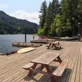 Boat dock/marina at Loon Lake Lodge + RV Resort.- Oregon's 60 Best Lakes for Summer