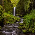 The nicknamed, Mossy Grotto Falls on Ruckel Creek.- Columbia River Gorge National Scenic Area