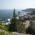 Rugged coastline along the Cliff Trail of Isle Au Haut.- Acadia National Park