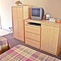 Motel interior. Photo courtesy of Loon Lake Lodge.- Loon Lake Lodge + RV Resort