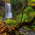 Upper Bridal Veil Falls.- Columbia River Gorge National Scenic Area