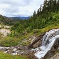 Waterfall on Clark Creek.- Timberline Trail