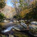 Big Creek below Mouse Creek Falls.- Big Creek Trail to Mouse Creek Falls