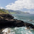 The rugged coast along the trail to Ka'ena Point.- Ka'ena Point Trail