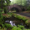 Carriage Road stone bridge overpass.- Acadia National Park