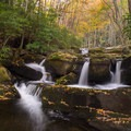 The waterfalls are numerous in Great Smoky Mountains National park.- Must-See National Parks in the Autumn