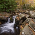 Another one of the many small waterfalls along the trail.- Middle Prong Trail