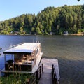 Private dock for tent sites.- Loon Lake Lodge + RV Resort