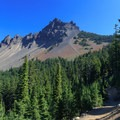 View of Three Fingered Jack from the PCT.- Three Fingered Jack