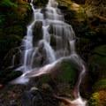 Horseshoe Creek Falls at lower late summer flow- Siouxon Creek Hike