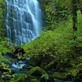 Early fall colors with the impressive University Falls.- Oregon Fall Photo Contest