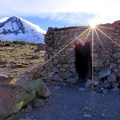 The Cooper Spur shelter.- Timberline Trail