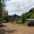 View from rear (east) end of the RV resort.- Loon Lake Lodge + RV Resort