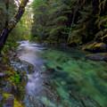 Opal Creek drains Opal Pool.- Opal Creek Hiking Trail
