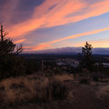 Colorful sunset from the summit of Pilot Butte.- Pilot Butte Summit Trail
