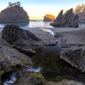 Miner Creek pours onto Secret Beach.- Secret Beach