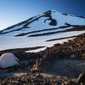 A substantial amount of built wind walls/tent platforms can be found on the Lunch Counter.- Mount Adams: South Climb