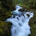 Opal Creek Falls above Opal Pool.- Opal Creek Hiking Trail
