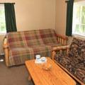 Basic cottage interior. Photo courtesy of Loon Lake Lodge.- Loon Lake Lodge + RV Resort