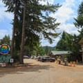 Loon Lake Lodge and RV Resort main entrance and day use area.- Loon Lake: The Oregon Coast's Hidden Summer Destination