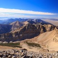 Great Basin National Park mountain range to the south of the Wheeler Peak summit.- Wheeler Peak