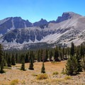 Wheeler Peak above the Alpine Lakes basin.- Wheeler Peak