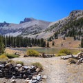 The trail around Stella Lake.- Wheeler Peak