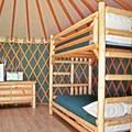 Yurt interior. Photo courtesy of Loon Lake Lodge.- Loon Lake Lodge + RV Resort
