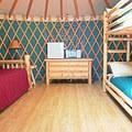 Yurt 69 interior. Photo courtesy of Loon Lake Lodge.- Loon Lake Lodge + RV Resort