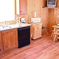 Deluxe Cabin interior. Photo courtesy of Loon Lake Lodge.- Loon Lake Lodge + RV Resort