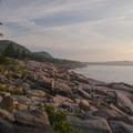 Early morning light over the rugged Acadia Coast.- Acadia National Park