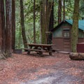 Cabin at Huckleberry Campground. Photo by John Cody.- 30 Campgrounds Perfect for West Coast Winter Camping
