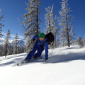 Enjoying some turns on Vista Butte with Mount Bachelor in the background.- 15 Reasons to Visit Bend, Oregon, this Winter