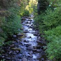 Swauk Creek runs along the highway near Mineral Springs Campground.- Great Camping Near the Enchantments