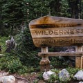 Entering the Indian Peaks Wilderness.- Mount Audubon Hike