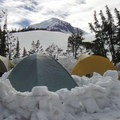 Middle Sister from base camp.- 70 Breathtaking Backcountry Campsites