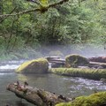 A thin layer of fog hovers over the Clackamas River.- Whitewater 101: How to Prepare for a Day on the River
