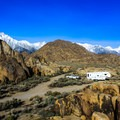 Alabama Hills is home to climbing crags and camping near Lone Pine.- Exploring California's Eastern Sierra