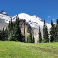 Mount Rainier (14,411 ft) from Summerland.- Washington's Best Backpacking Trips