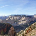 Endless views from the West Rim Trail.- West Rim Trail, Lava Point to Zion Canyon