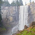 Vernal Falls.- Winter in Yosemite National Park