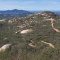 View north toward Escondido from the Potato Chip Rock Trail.- California's 60 Best Day Hikes