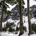First view of Melakwa Lake.- Amazing Snowshoe Trails in Washington