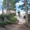 Little Scraggy Trail: One of the rock features you can ride on the way back down.- 10 Classic Denver Mountain Biking Trails