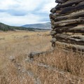 Bucyrus Dredge Loop Mountain Bike Ride: Quite a few old mining camp buildings are here, and some have been reappropriated by vegitation.- Dillon Reservoir's Best Hikes, Rides + Camping