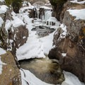 Temperance River Gorge in winter, Temperance River State Park.- Road Trip Along the North Shore of Lake Superior