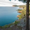 View of Palisade Head and Lake Superior shoreline from Shovel Point, Tettegouche State Park.- Road Trip Along the North Shore of Lake Superior