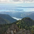 The view from the summit of Crown Mountain over Vancouver and the Georgia Strait.- The Pacific Northwest