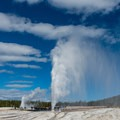 Beehive and Lion Geyser in Yellowstone National Park.-  Hot Springs, Geysers, and Other Geothermal Activity