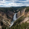 Lower Yellowstone Falls from Lookout Point in the Grand Canyon of the Yellowstone.- Yellowstone National Park